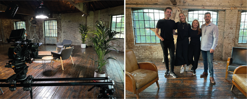 Video Production Team On Set in an Iconic London Filming Location