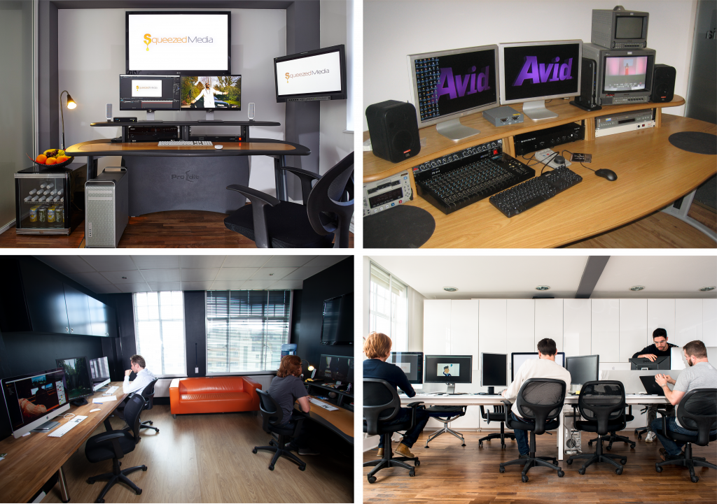 SQZD Creative Offices in London used for creating animation and video production.